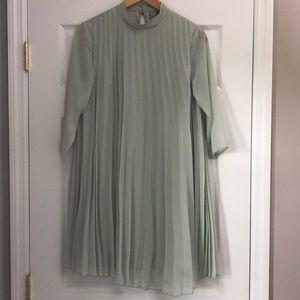 Pleated Trapeze Maternity Dress